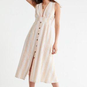 Uo Millie linen midi dress